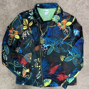 Chico's size 1 floral moto jacket